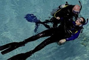 Diver Rescue Training on the surface